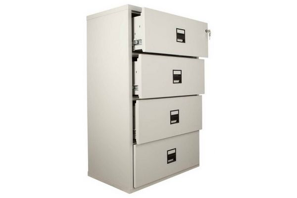 FireKing MLT4 4 Drawer Lateral Cabinet
