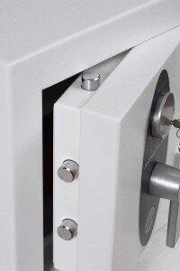 Safe with open door